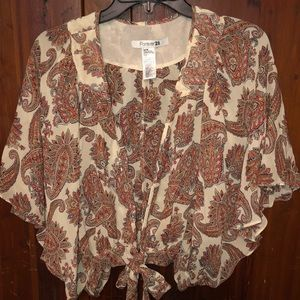 Super cute blouse cardigan top. Size Medium
